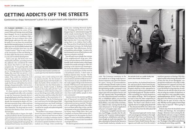 Article Preview: GETTING ADDICTS OFF THE STREETS, March 2003 | Maclean's