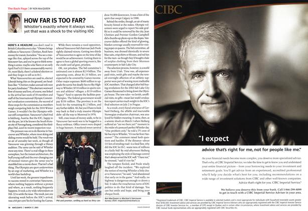 Article Preview: HOW FAR IS TOO FAR?, March 2003 | Maclean's
