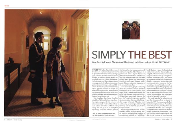 Article Preview: SIMPLY THE BEST, March 2003 | Maclean's