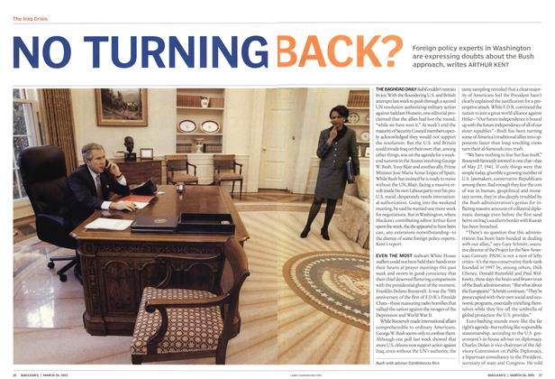 Article Preview: NO TURNING BACK?, March 2003 | Maclean's