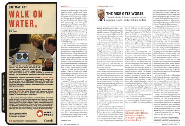 Article Preview: THE RIDE GETS WORSE, March 2003 | Maclean's