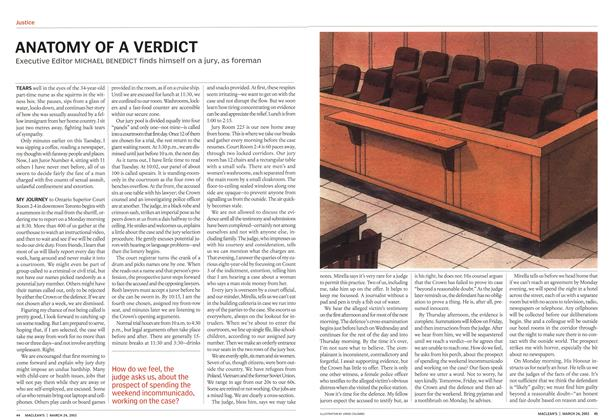 Article Preview: ANATOMY OF A VERDICT, March 2003 | Maclean's