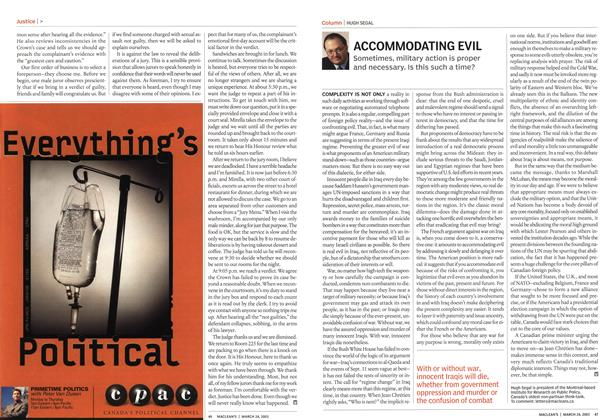 Article Preview: ACCOMMODATING EVIL, March 2003 | Maclean's