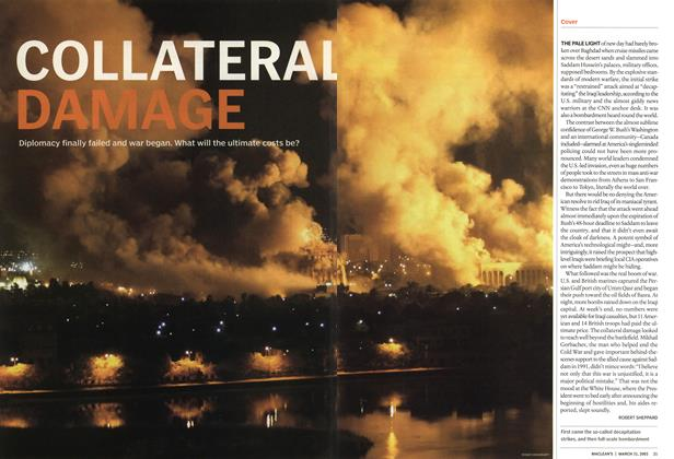 Article Preview: COLLATERAL DAMAGE, March 2003 | Maclean's