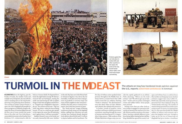 Article Preview: TURMOIL IN THE MIDEAST, March 2003 | Maclean's