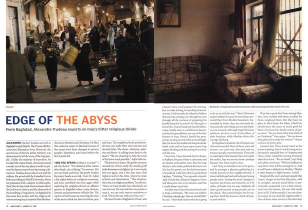 Article Preview: EDGE OF THE ABYSS, March 2003 | Maclean's
