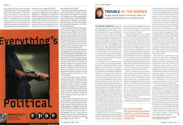 Article Preview: TROUBLE AT THE BORDER, March 2003 | Maclean's
