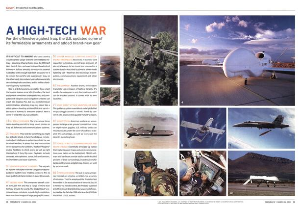 Article Preview: A HIGH-TECH WAR, March 2003 | Maclean's