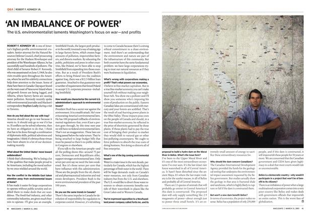 Article Preview: 'AN IMBALANCE OF POWER', March 2003 | Maclean's