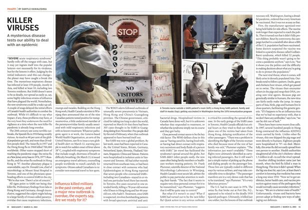 Article Preview: KILLER VIRUSES, March 2003 | Maclean's