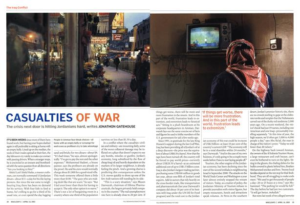 Article Preview: CASUALTIES OF WAR, April 2003 | Maclean's