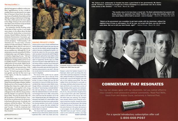 Article Preview: SAVING PRIVATE LYNCH, April 2003 | Maclean's