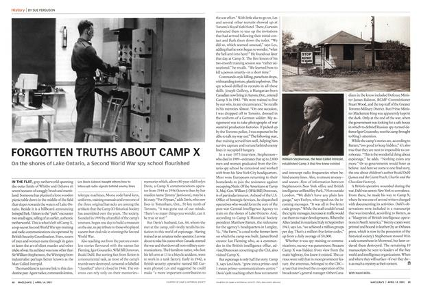 Article Preview: FORGOTTEN TRUTHS ABOUT CAMP X, April 2003 | Maclean's