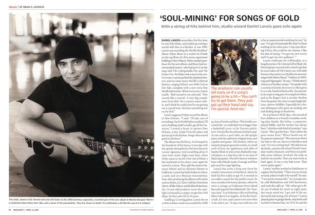 Article Preview: 'SOUL-MINING' FOR SONGS OF GOLD, April 2003 | Maclean's