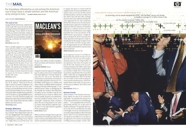 Article Preview: THE MAIL, April 2003 | Maclean's