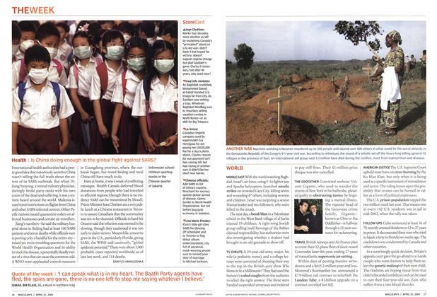 Article Preview: Health, April 2003   Maclean's