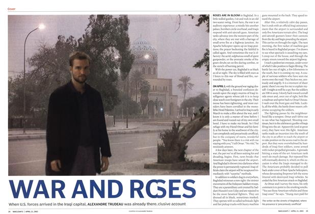 Article Preview: WAR AND ROSES, April 2003 | Maclean's