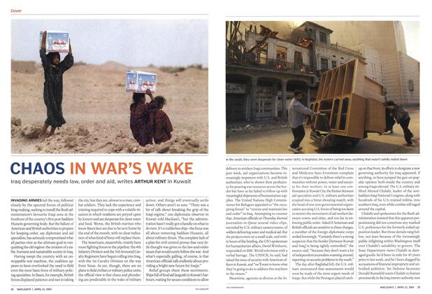 Article Preview: CHAOS IN WAR'S WAKE, April 2003 | Maclean's