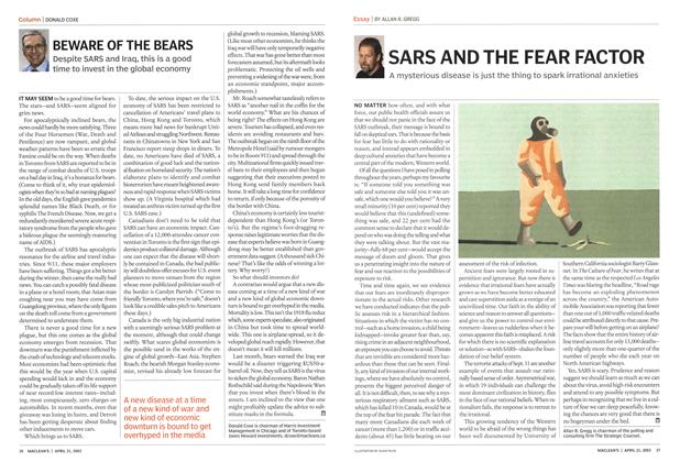 Article Preview: SARS AND THE FEAR FACTOR, April 2003 | Maclean's