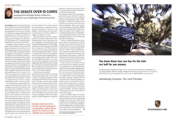 Article Preview: THE DEBATE OVER ID CARDS, April 2003 | Maclean's