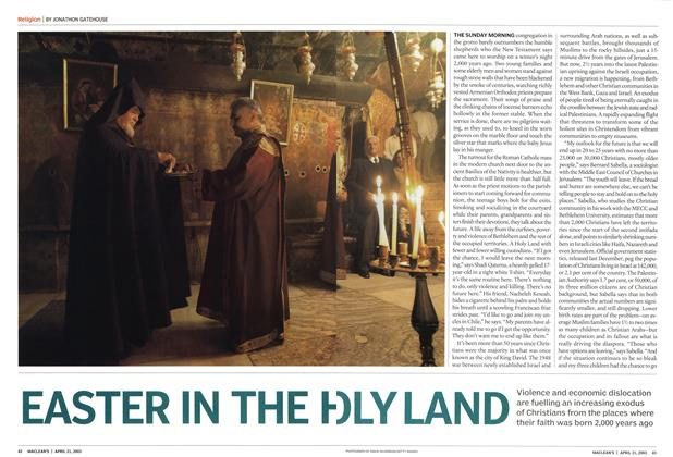 Article Preview: EASTER IN THE HOLYLAND, April 2003 | Maclean's