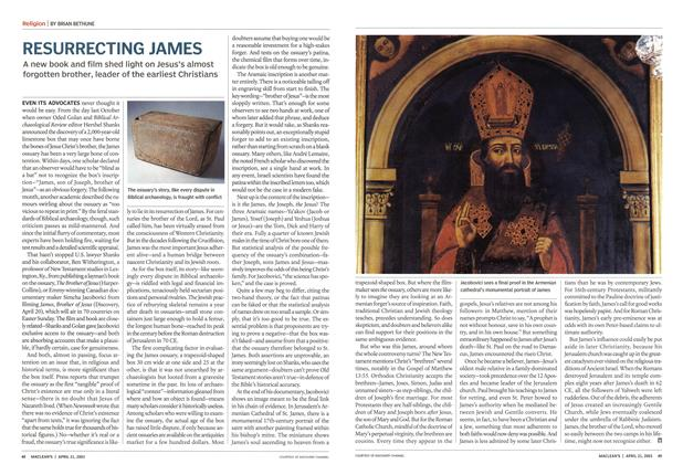 Article Preview: RESURRECTING JAMES, April 2003 | Maclean's