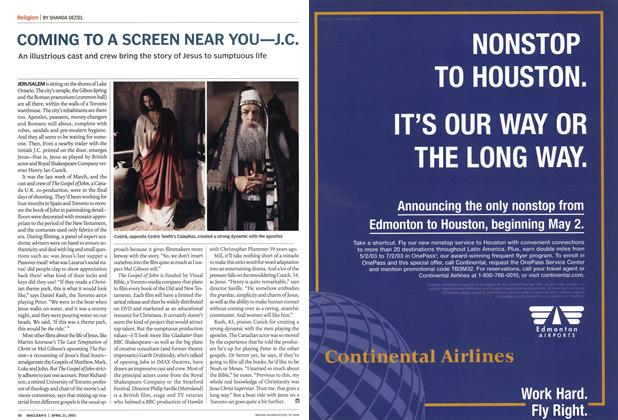 Article Preview: COMING TO A SCREEN NEAR YOU—J.C., April 2003 | Maclean's