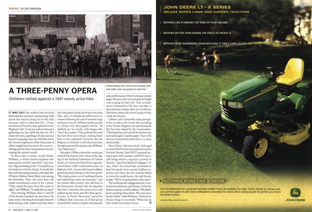 Article Preview: A THREE-PENNY OPERA, April 2003 | Maclean's