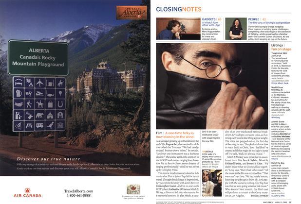 Article Preview: Film, April 2003   Maclean's