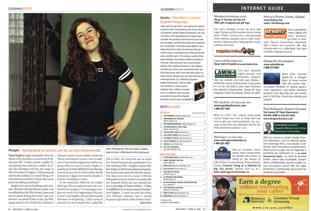 Article Preview: People, April 2003   Maclean's
