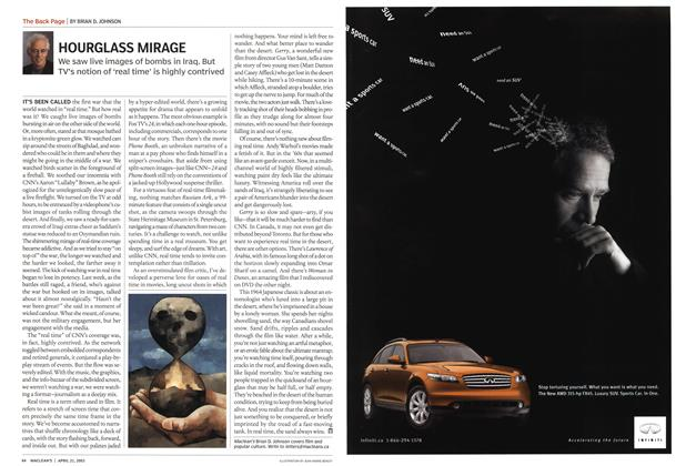 Article Preview: HOURGLASS MIRAGE, April 2003 | Maclean's