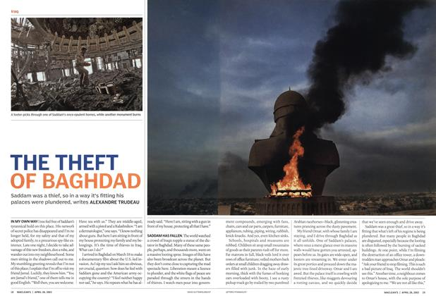 Article Preview: THE THEFT OF BAGHDAD, April 2003 | Maclean's