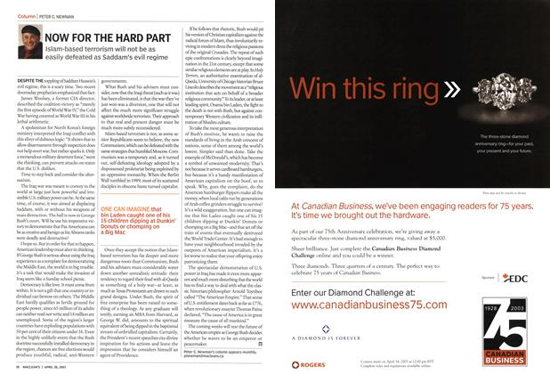 Article Preview: NOW FOR THE HARD PART, April 2003 | Maclean's