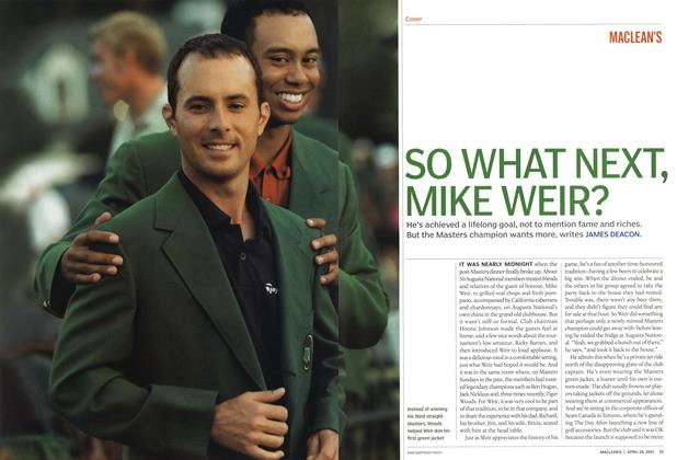 Article Preview: SO WHAT NEXT, MIKE WEIR?, April 2003 | Maclean's