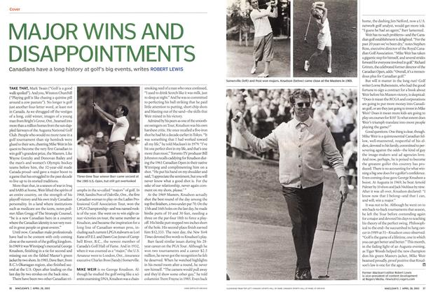 Article Preview: MAJOR WINS AND DISAPPOINTMENTS, April 2003 | Maclean's