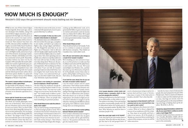 Article Preview: 'HOW MUCH IS ENOUGH?', April 2003 | Maclean's