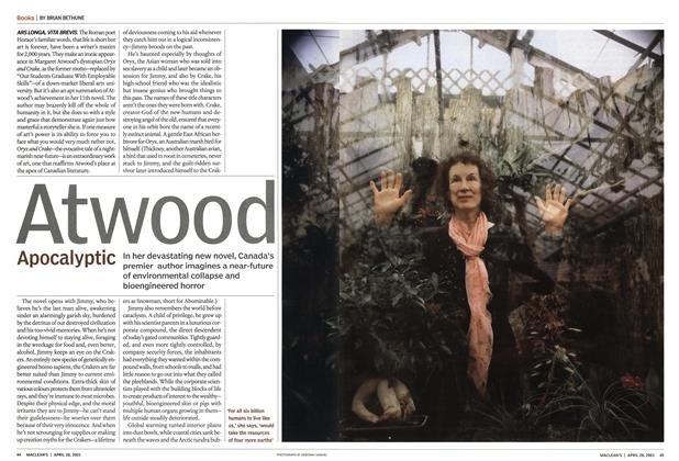 Article Preview: Atwood Apocalyptic, April 2003 | Maclean's