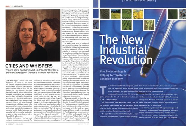 Article Preview: CRIES AND WHISPERS, April 2003 | Maclean's