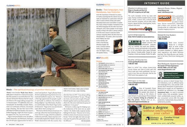 Article Preview: BESTSELLERS, April 2003 | Maclean's