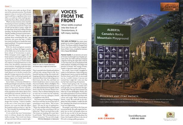 Article Preview: VOICES FROM THE FRONT, May 2003 | Maclean's