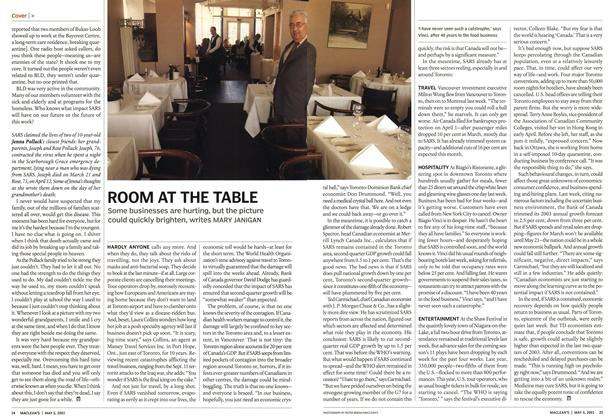 Article Preview: ROOM AT THE TABLE, May 2003 | Maclean's