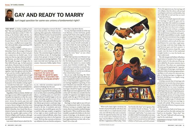 Article Preview: GAY AND READY TO MARRY, May 2003 | Maclean's
