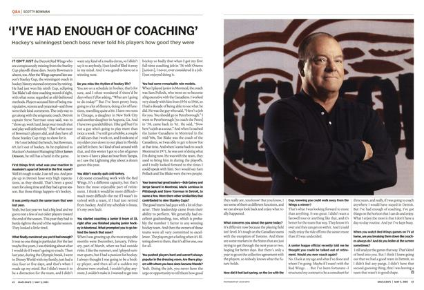 Article Preview: I'VE HAD ENOUGH OF COACHING', May 2003 | Maclean's