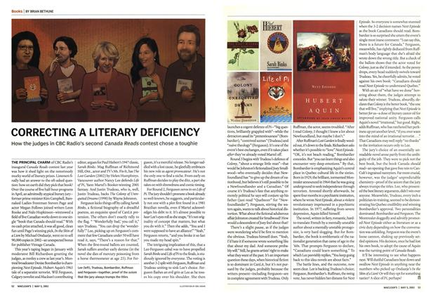 Article Preview: CORRECTING A LITERARY DEFICIENCY, May 2003 | Maclean's