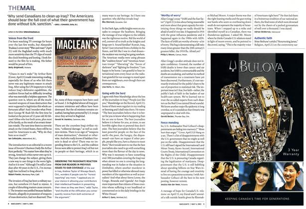 Article Preview: THE MAIL, May 2003 | Maclean's
