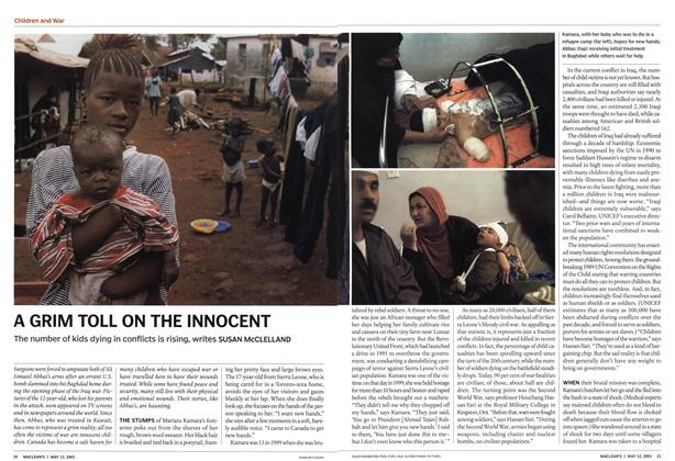 Article Preview: A GRIM TOLL ON THE INNOCENT, May 2003 | Maclean's