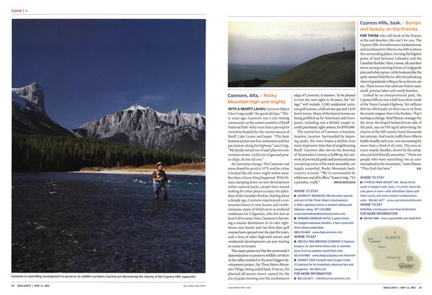 Article Preview: Canmore, Alta., May 2003 | Maclean's