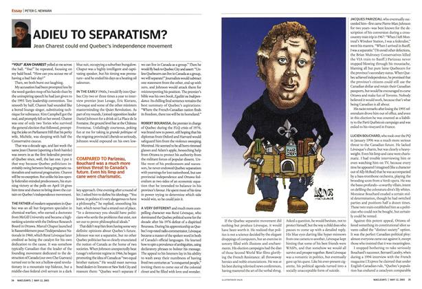 Article Preview: ADIEU TO SEPARATISM?, May 2003 | Maclean's