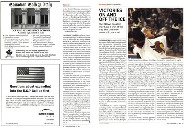 Article Preview: VICTORIES ON AND OFF THE ICE, May 2003 | Maclean's