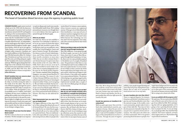Article Preview: RECOVERING FROM SCANDAL, May 2003 | Maclean's